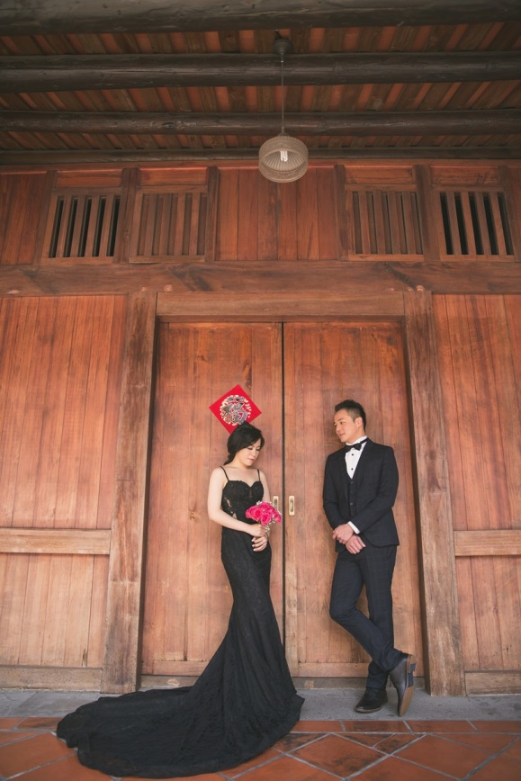 復古黑色時尚禮服婚紗-台北婚攝 JETAIME