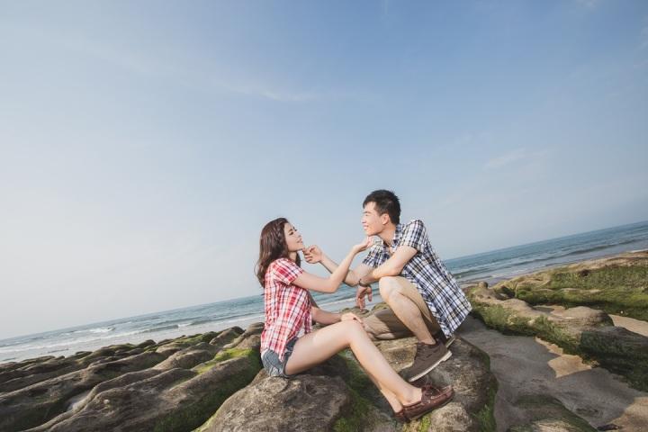 海灘便服婚紗照-台北婚攝Jetaime