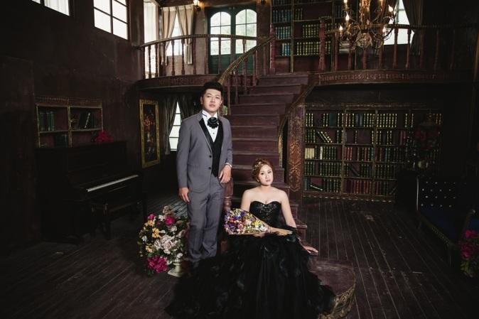 個性黑色禮服婚紗照-台北婚攝Jetaime